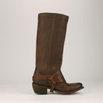 OBBVY-Fringed Long Tube Rider Boots