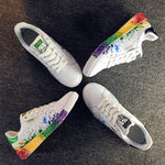 OBBVY-Painted Graffiti Shoes Rainbow Color Casual Shoes