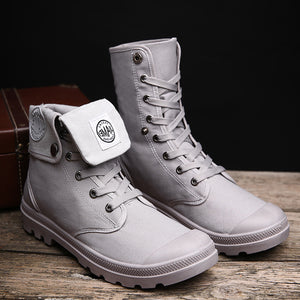 OBBVY-Canvas Boots Trend Shoes High-top Casual Men's Shoes