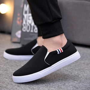 OBBVY-Men's Canvas Loafers Breathable Casual Shoes