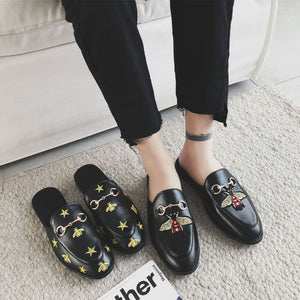 OBBVY-Embroidered Loafers Fashion Slippers Size EU35-44