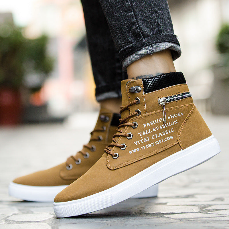 OBBVY-High-top Suede Shoes Casual Lace Shoes Size EU38-46