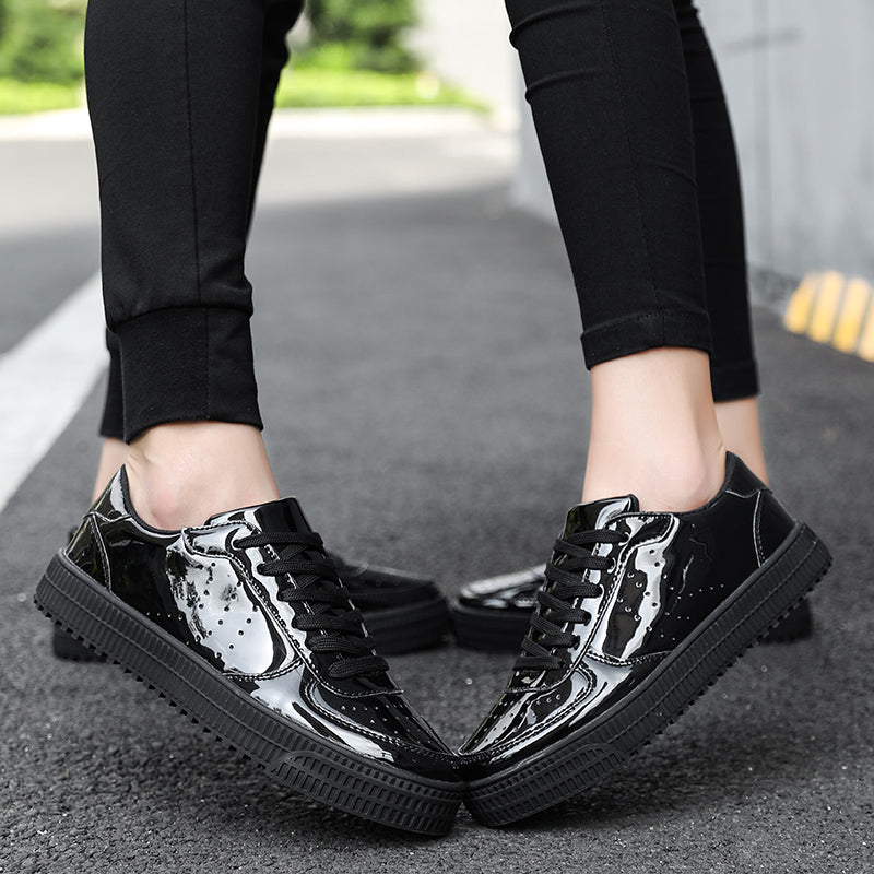OBBVY-Fashion Unisex Glossy Leather Shoes Size US5-12/EU36-46