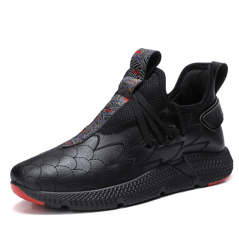 OBBVY-Chinese Dragon Scale Sneaker Casual Shoes