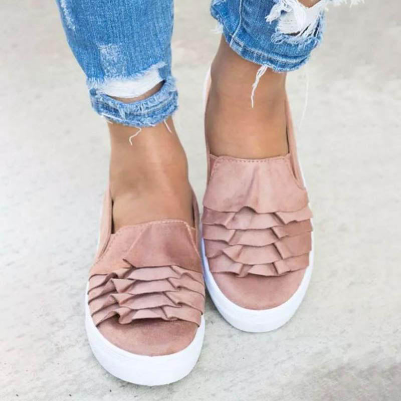 OBBVY-Women's Shallow Mouth Lace Shoes