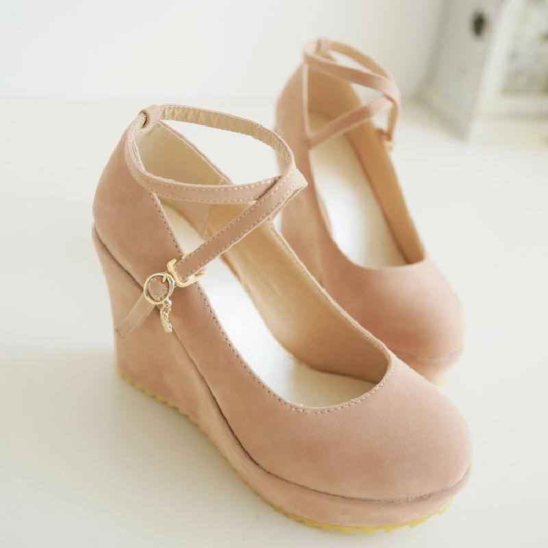 OBBVY-Sweet Solid Color Wedge