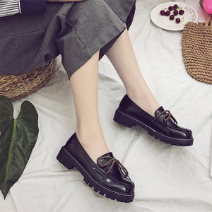 OBBVY-Thick Flat Loafers