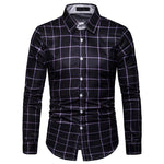 Plaid Men's Shirt Long Sleeve