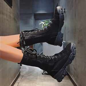 Fashion Trend-Locomotive Booties Hip-hop Stylish Shoes