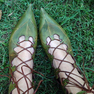 Fashion Trend-Leaf Pointed Shoes