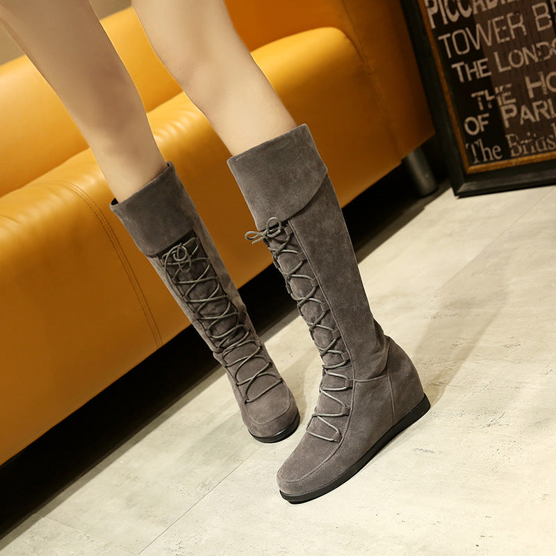 OBBVY-Flat Bottom Round Warm Boots