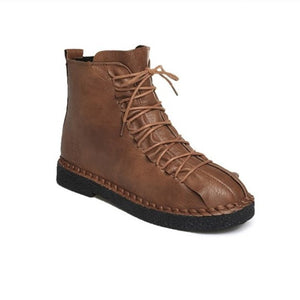 OBBVY-British Style Martin Boots Platform Women's Shoes