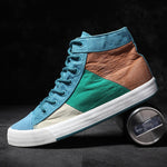 OBBVY-Colorblock Canvas Shoes High-top Shoes Fashion Trend