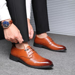 OBBVY-Leather Shoes Dress Shoes Loafers Size EU38-48