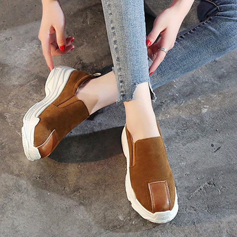 OBBVY-Suede Thick Bottom Muffin Loafers
