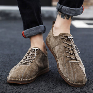 OBBVY-Suede Fashion Casual Shoes Low-top Shoes Boots