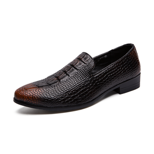 OBBVY-New Crocodile Leather Loafers