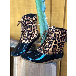 OBBVY-Leopard Fashion Booties