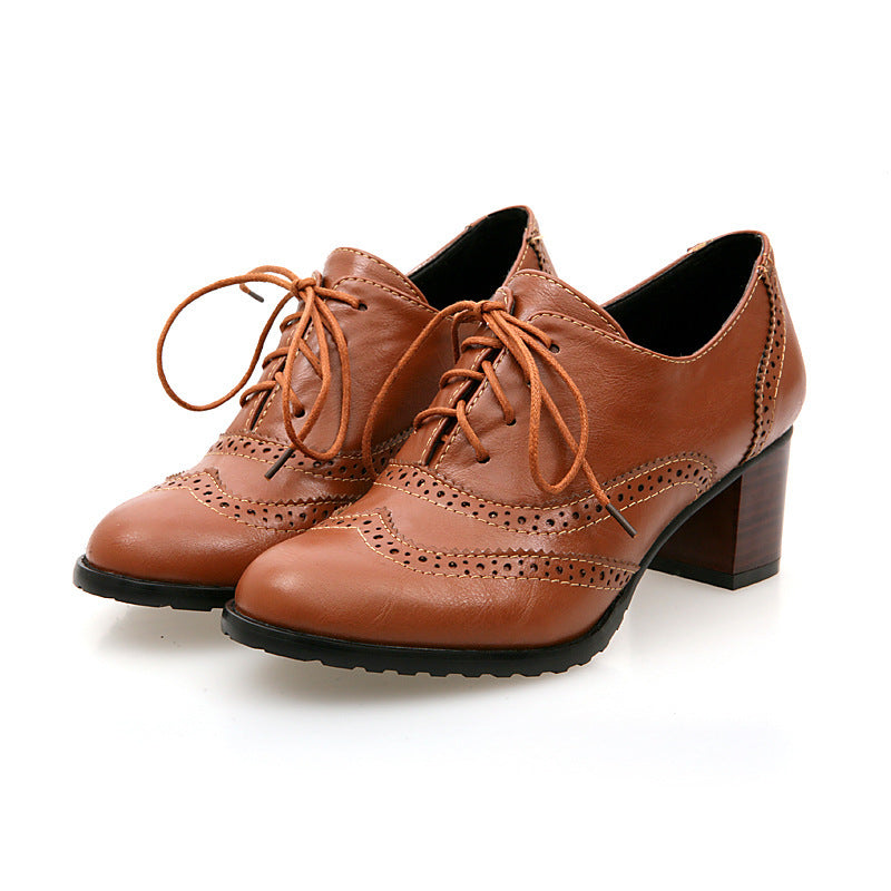 OBBVY-Bullock Mid Heel Shoes