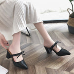 OBBVY-Pointed Muller Shoes