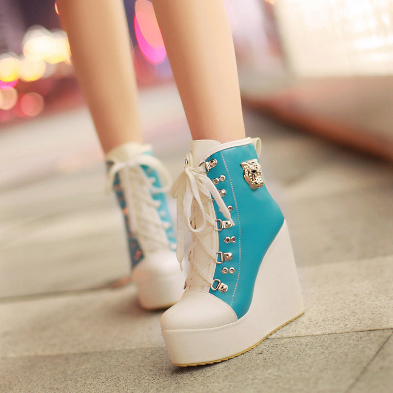 OBBVY-Wedge Shoes Beautiful Color High Heels