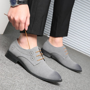 OBBVY-Casual Matte Leather Shoes Formal Loafers Size EU38-48