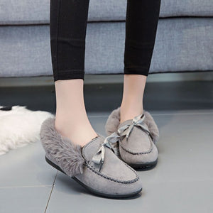 OBBVY-Plus Velvet Warm Flat Shoes