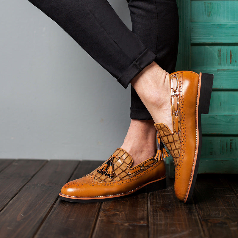 OBBVY-Handmade Brock Men's Loafers