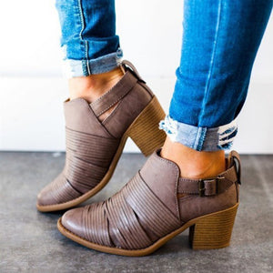 OBBVY-Buckle Retro Shoes