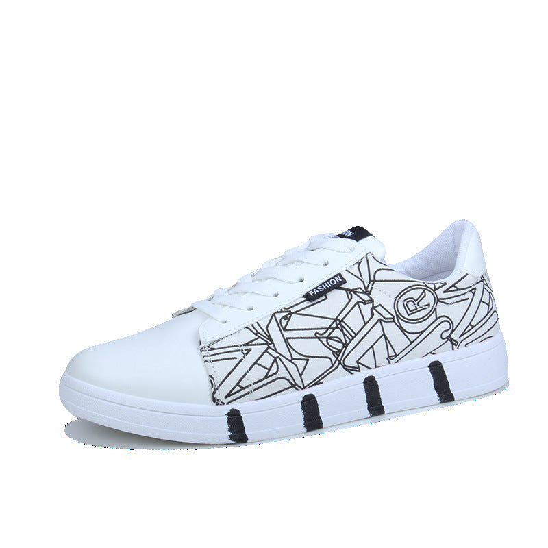 OBBVY-Printed Casual Shoes Low-top Shoes