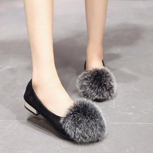 OBBVY-Flat Bottom Plus Velvet Loafers