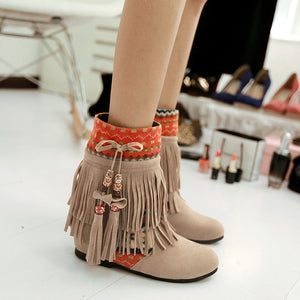OBBVY-Fashion Tassel Booties