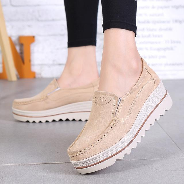 Women Platform Comfort Walking Wedge Sneakers
