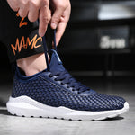 OBBVY-Breathable Woven Sneakers New Style Men's Sports Shoes Ultra Size EU39-47/US6.5-11.5