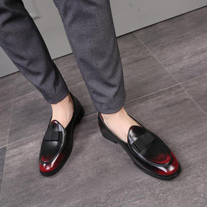 OBBVY-Retro Fashion Men's Loafers Gradient Color Shoes Size EU38-48