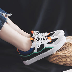 OBBVY-Women's Sneaker New Stylish Canvas Shoes Color Matching Mesh Breathable