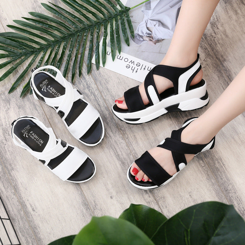 OBBVY-Muffin Bottom Wedge Sandals