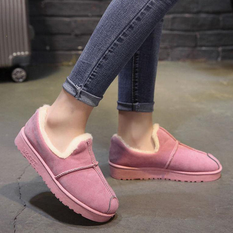 OBBVY-Warm And Velvet Flats Shoes