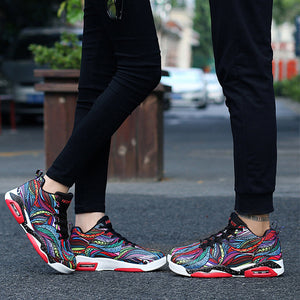 OBBVY-Couple Air Cushion Sneakers Shock Absorption Basketball Shoes