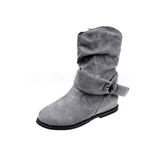 OBBVY-Women's Large Size Flat Ankle Boots