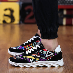 72f2a139500 OBBVY-2018 NEW Totem Shoes Graffiti Canvas Shoes Casual Sneaker Sports Shoes