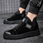 OBBVY-Men High-top Shoes Handsome Booties Walking Shoes
