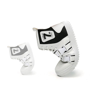 OBBVY-High-top Men's Shoes Buckle Design Street Fashion
