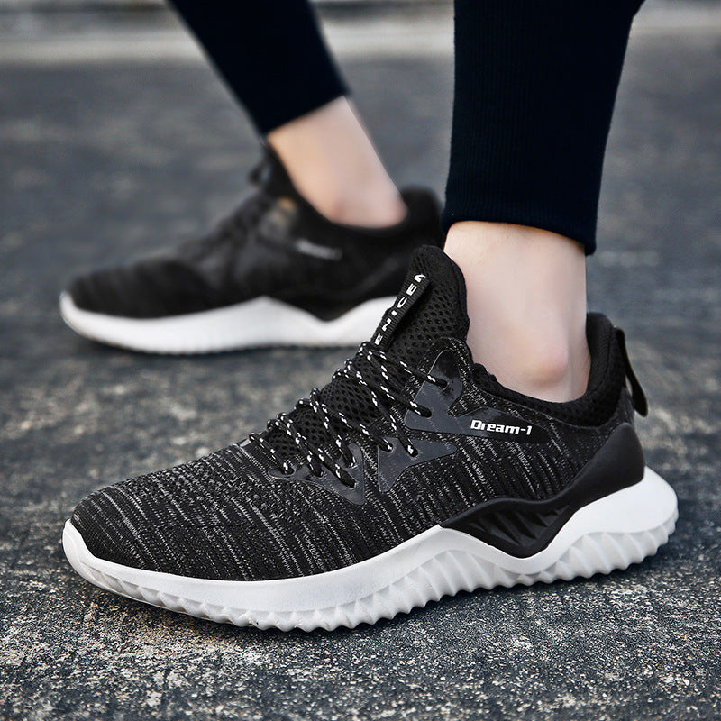 OBBVY-Light Breathable Sneakers 180 Degree Bending Running Shoes Comfortable