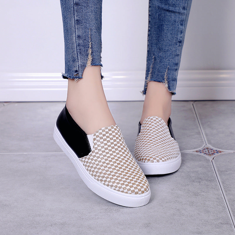OBBVY-Sequined Flat Loafers
