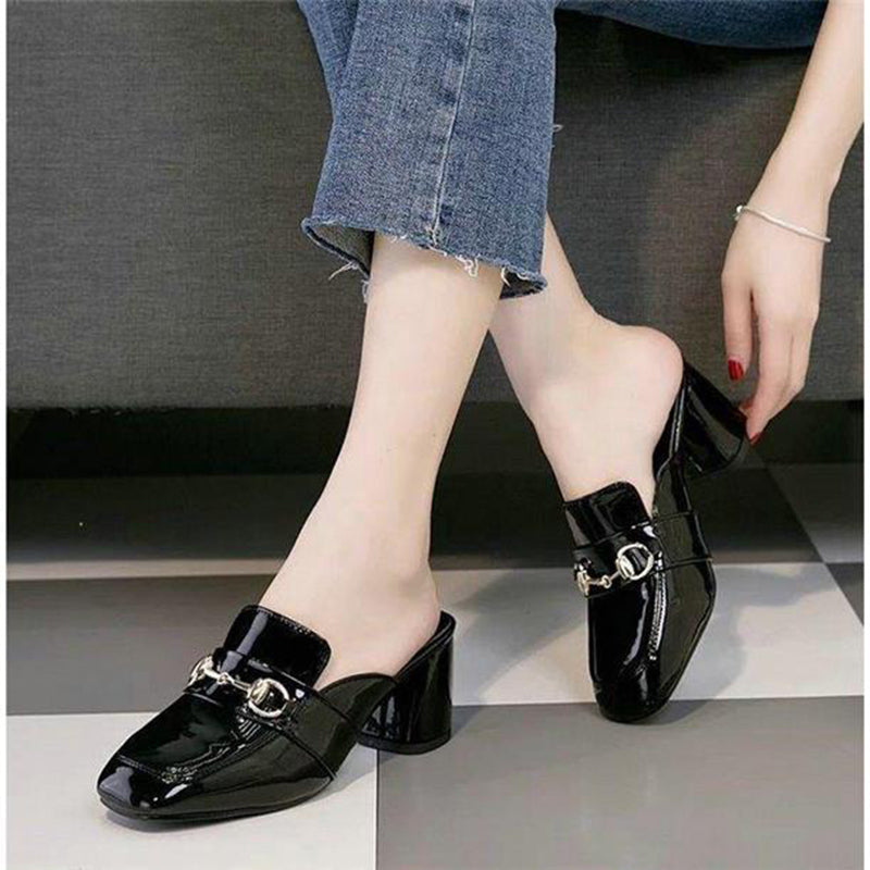 OBBVY-Spring And Summer High-Heeled Loafers