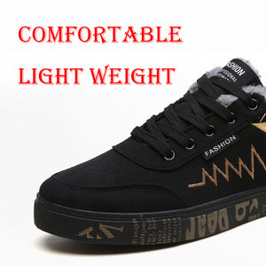 OBBVY-Men's Canvas Shoes Normal Style Thick Warm Style