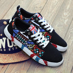 OBBVY-Unique Pattern Canvas Shoes Size EU35-46