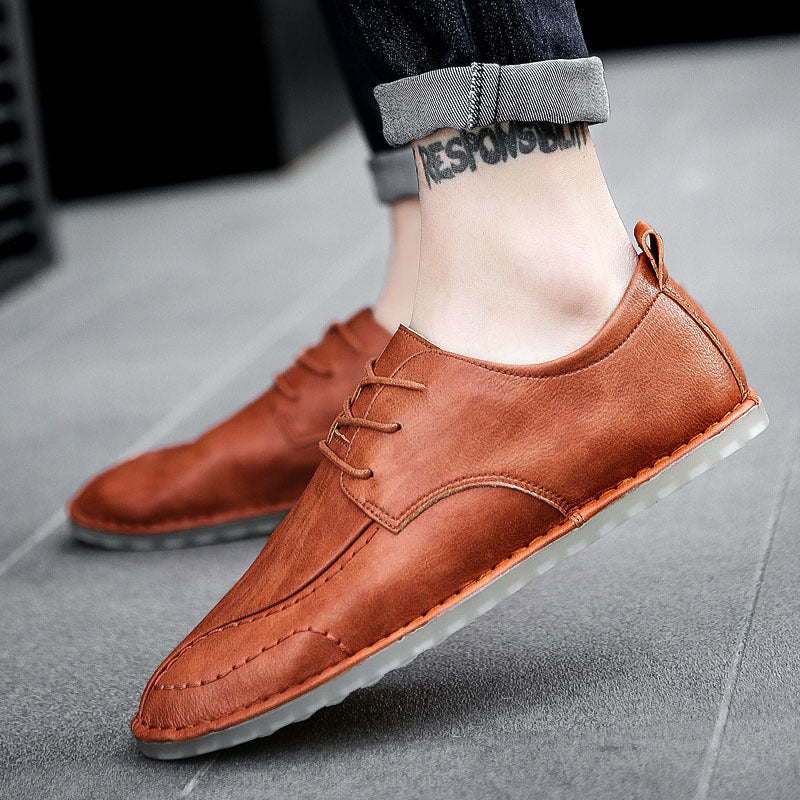 OBBVY-Men's Leather Loafers Casual Shoes Size EU37-47