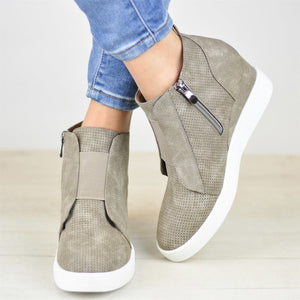 OBBVY-Women's Wedge Ankle Boots